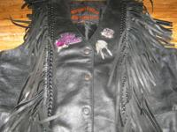 jacket, chaps, vest,... all leather.. great condition.