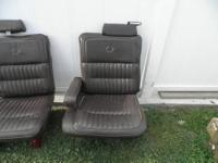 Leather Split Bench Seats from a Cadillac Mounted on