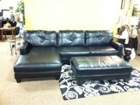 excellent condition black sectional! only used 7 months