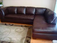 Selling sectional in great condition; 3 months old, no