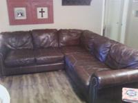 Selling my barely used leather corner sectional. Moving