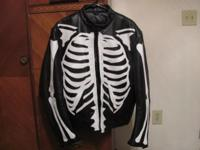 Leather Skeleton Jacket for sale.  Made by UNIK