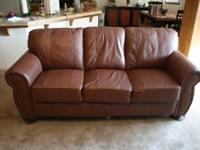 Leather sofa in very good condition. Asking $200.00