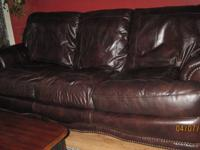 Beautiful, soft, 100% leather sofa, in very good