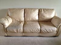 Selling a matching leather sofa and love seat for $250.