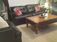 Matching sofa and love seat. Colour: Dark Expresso.