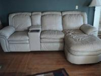 This beautiful leather sofa and loveseat set are able