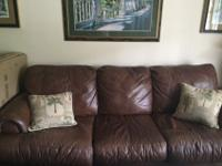 brown leather sofa..from .Jennifer Convertibles. There