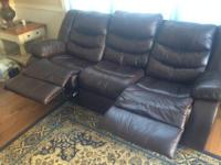 Like new leather sofa purchased at Ashley furniture 3