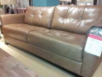 Considering Best Offers: Luxury Martino Leather Sofa,