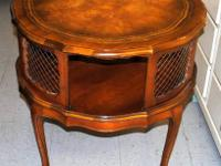 Natural leather Leading Round French Provincial Table