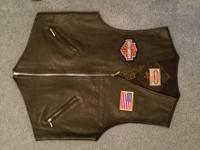 Large Paragraff Clothing Co Leather Vest.  Harley