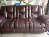 Leather Dual Reclining Sofa for Sale $350 OBO  Great
