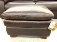 $199, Leather Ottoman -pillowtop NEW! ~*~ Furniture Now
