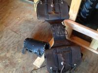 Geniune Leather Saddle bags for motorcycle or horse.