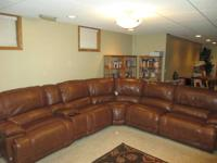 Moving...must sell.  5 piece leather sectional couches.