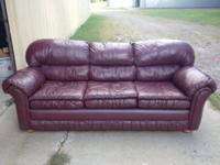 This leather sofa is in excellent condition & very