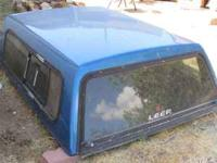 Blue Camper Shell Windows, screens, slider, and shocks