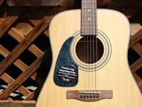 Bought this left-handed Fender acoustic guitar a couple