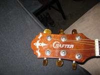 Crafter left handed acustic guitar & Stagg left handed