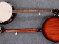 REDUCED PRICE! New left-handed 5-string G chord banjo.