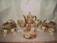 handpainted Lefton China snack set..............was a
