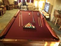 "Legacy Pool Table 8' standard size 3 piece 1"" slate"