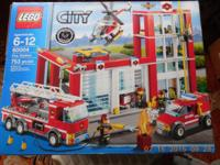 Lego city fire station 60004 set 753 pieces in original