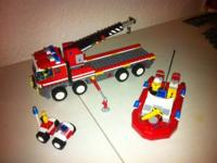 Hi I'm selling a brand new Lego fire truck+boat+mini