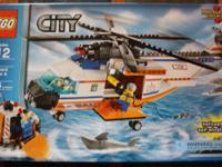 City Coast Guard Helicopter and Life Raft 7738, 445