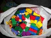 Assorted lego duplos which are the larger legos. I have