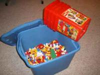 For sale is a rubbermaid container of lego's. They are