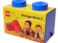 The LEGO Storage Brick 2 - Blue provides an interesting