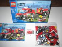 Lego 7741 Police Helicopter, 7942 Off Road Fire Rescue,