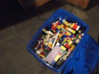 legos- plastic lego container full assorted legos- $25