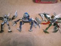See photos $3 each  small lego bionicles / various