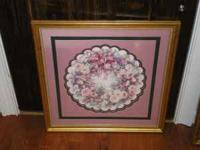 "This is 26"" wide and 26"" tall. It has triple matting."
