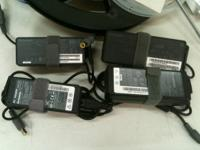 Genuine Lenovo used chargers with a large barrel plug,