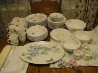 Extra large set of the gorgeous Lenox Butterfly Meadow