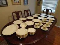 Beautiful Lenox Riverdale China trimmed in gold with