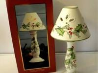 Lenox candlestick lamp. See pictures