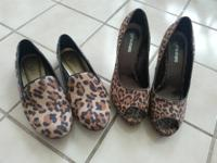 Leopard print flats size 8.5 used, like new $10