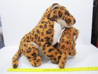 Leopard with Cub Plush Toy 030615 From J.C. Penneys The