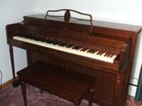 Lester Half Upright SPINET Piano-in good condition-tone