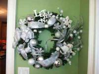 "The Let It Snow wreath is a very stunning 24"" hand"