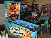 Up for sale is a nice Lethal Weapon 3 pinball machine.