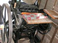 This is a Chandler & Price 10x15 letter print press, it