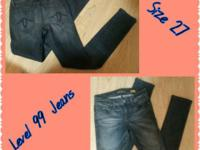 Level 99 Premium Denim Jeans Size 27 In excellent