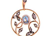 This pendant necklace from LeVian is ravishing and