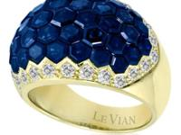Designer Levian 18K YG/WG Tanzanite, or Sapphire and